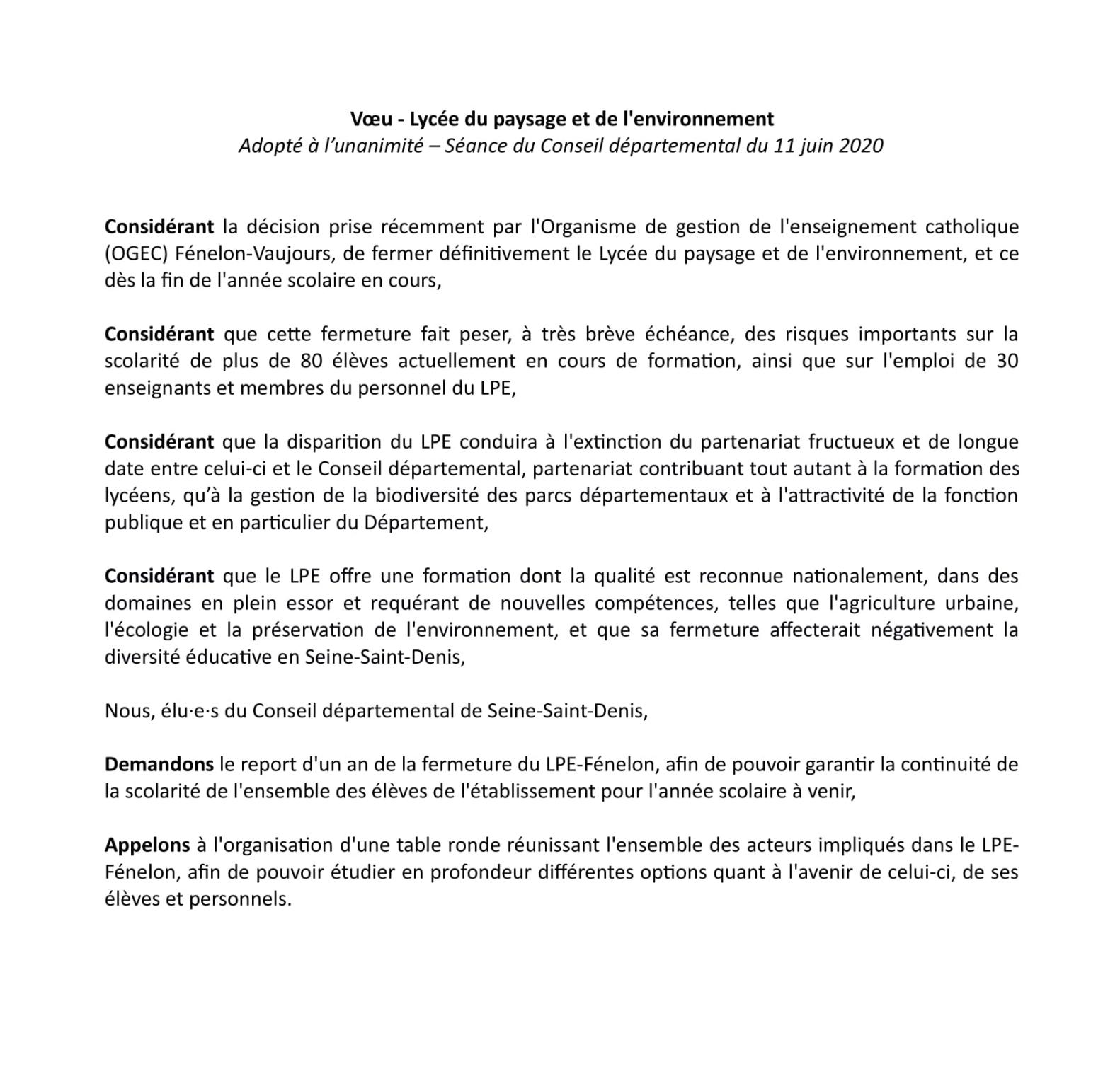 200611 Voeu Conseil départemental 93 LPE-1